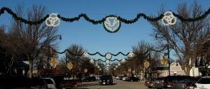 Christmas decorations in Orange City Iowa, Thursday, Dec. 10, 2015. (Photo by Jerry L Mennenga ©)