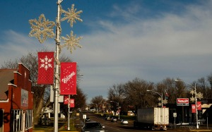 Christmas decoration in Sioux Center Iowa, Thursday, Dec. 10, 2015. (Photo by Jerry L Mennenga ©)