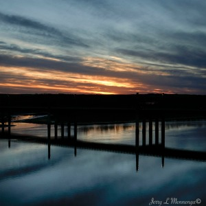 The sun sets west of Yankton, South Dakota Friday, Dec. 30, 2016. (photo by Jerry L Mennenga©)